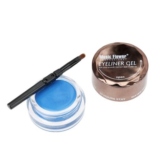 MUSIC FLOWER Professional Makeup Eyeliner Gel Cream with Brush WaterproofHealth &amp; Beauty<br>MUSIC FLOWER Professional Makeup Eyeliner Gel Cream with Brush Waterproof<br>