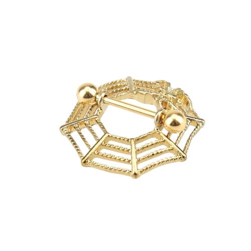 Spider Web Style Dangling Nipple Ring Body Piercing Jewelry Nipple BarHealth &amp; Beauty<br>Spider Web Style Dangling Nipple Ring Body Piercing Jewelry Nipple Bar<br>
