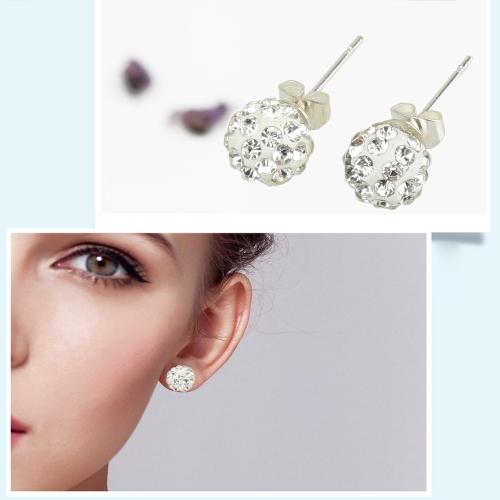 1 Pair Women Crystal Shambhala Earrings Disco Ball Pave Ear DecorationsHealth &amp; Beauty<br>1 Pair Women Crystal Shambhala Earrings Disco Ball Pave Ear Decorations<br>