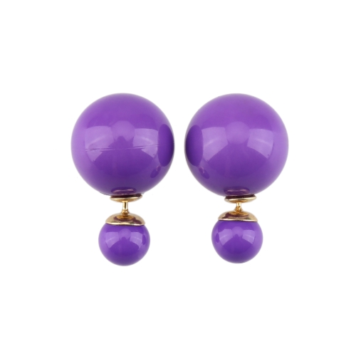 1 Pair Fashion Double Side Earrings Big Pearl Stud Ear Jewelry for WomenHealth &amp; Beauty<br>1 Pair Fashion Double Side Earrings Big Pearl Stud Ear Jewelry for Women<br>