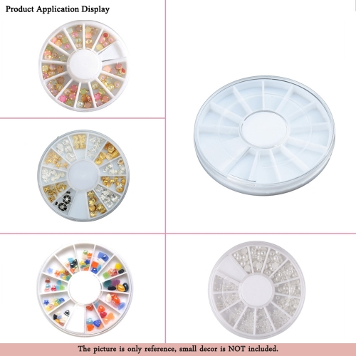10Pcs Rotatable Container Cases for Nail Art 60mm Empty Storage Wheel BoxesHealth &amp; Beauty<br>10Pcs Rotatable Container Cases for Nail Art 60mm Empty Storage Wheel Boxes<br>