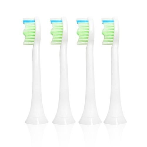 4шт Достойная Упаковка Электрическая Зубная Щетка Sonic Заменяемые Головки Щеток Подходит для Philips Proresults Sonicare Diamond Clean HX6064