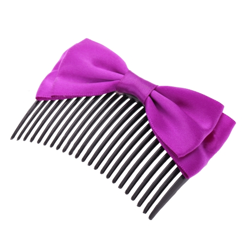 Handmade Ribbon Bow Inserted Hair Comb Hair AccessoryHealth &amp; Beauty<br>Handmade Ribbon Bow Inserted Hair Comb Hair Accessory<br>