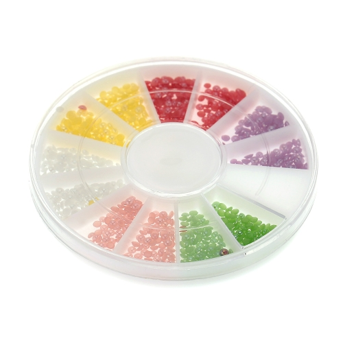 6 Color Portable Twinkle Mini Powdery Hemisphere Particle Circular Disc Container Lady Makeup Nail ArtHealth &amp; Beauty<br>6 Color Portable Twinkle Mini Powdery Hemisphere Particle Circular Disc Container Lady Makeup Nail Art<br>