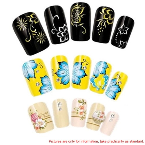 Water Transfer Printing Beauty Flowers Design Stylish Nail Art Sticker Decal Stickers on NailsHealth &amp; Beauty<br>Water Transfer Printing Beauty Flowers Design Stylish Nail Art Sticker Decal Stickers on Nails<br>