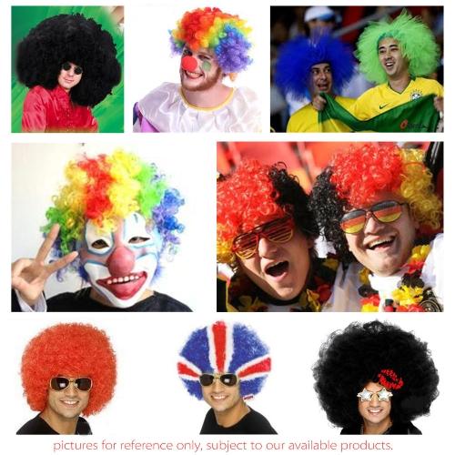 Afro Wig Pink Fancy Dress Curly Men Ladies Clown Hair Disco Football SupporterHealth &amp; Beauty<br>Afro Wig Pink Fancy Dress Curly Men Ladies Clown Hair Disco Football Supporter<br>