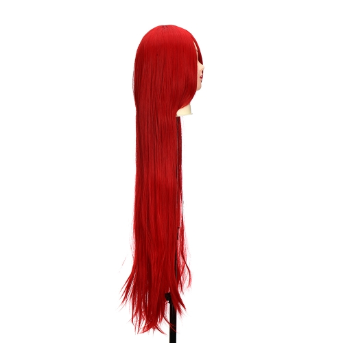 Pure Red 1m  Long Staight Wig Anime Character Cosplay Stage Role Forehead FringeHealth &amp; Beauty<br>Pure Red 1m  Long Staight Wig Anime Character Cosplay Stage Role Forehead Fringe<br>