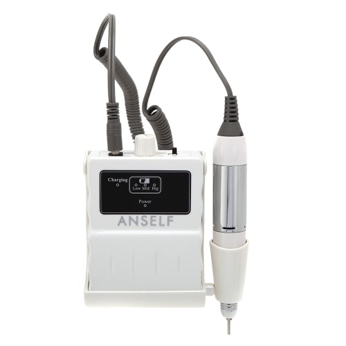 Sistema de 100-240V 25.000 RPM Lima de uñas de acrílico Portable taladro manicura máquina accesorio recargable Pedicure Mini Kit