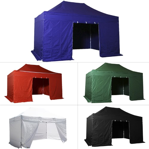 Folding Tent PLITECH QUALITY Folding Marquee Gazebo 40mm Aluminium Structure + 4 Sides Waterproof Tarpaulins in PVC Coated PolyestHome &amp; Garden<br>Folding Tent PLITECH QUALITY Folding Marquee Gazebo 40mm Aluminium Structure + 4 Sides Waterproof Tarpaulins in PVC Coated Polyest<br>