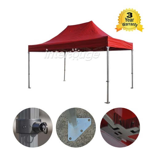 Folding Tent PRO Series 50mm Aluminium Structure in PVC 520g/m? Tarpaulin 3x4.5m  for Professional Needs or Daily Use RedHome &amp; Garden<br>Folding Tent PRO Series 50mm Aluminium Structure in PVC 520g/m? Tarpaulin 3x4.5m  for Professional Needs or Daily Use Red<br>