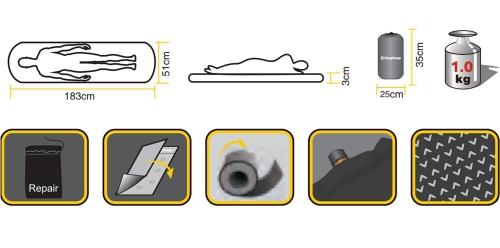 Durable TPU Lamination Comfortable Waterproof  Sleeping Pad BlueSports &amp; Outdoor<br>Durable TPU Lamination Comfortable Waterproof  Sleeping Pad Blue<br>