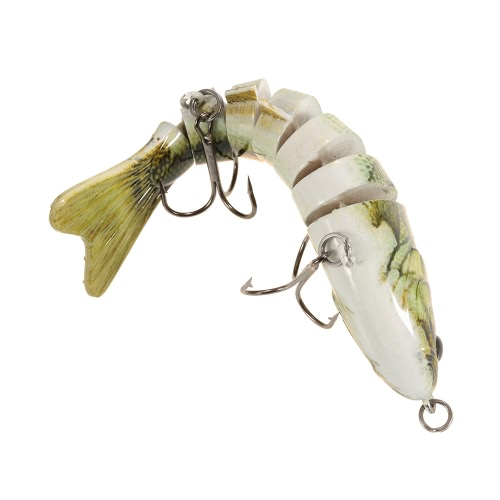 Lixada 10cm/4 15.5g Bionic Multi Jointed Fishing Lure SUN-FISH Lifelike Hard Bait Bass Yellow Perch Walleye Pike Muskie Roach TroSports &amp; Outdoor<br>Lixada 10cm/4 15.5g Bionic Multi Jointed Fishing Lure SUN-FISH Lifelike Hard Bait Bass Yellow Perch Walleye Pike Muskie Roach Tro<br>
