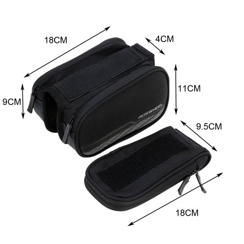 ROSWHEEL Bicycle Front Frame Bag Pannier Double Pouch for 5.7in Cellphone Touch ScreenSports &amp; Outdoor<br>ROSWHEEL Bicycle Front Frame Bag Pannier Double Pouch for 5.7in Cellphone Touch Screen<br>