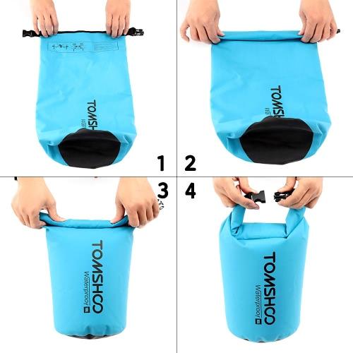 TOMSHOO 10L / 20L Outdoor Water-Resistant Dry Bag Sack Storage Bag