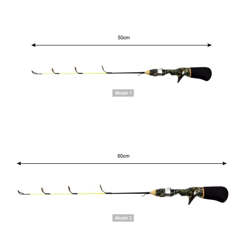 Ice Fishing Rod Ultra Light Rod Camouflage Winter Fishing Tackle Mini PoleSports &amp; Outdoor<br>Ice Fishing Rod Ultra Light Rod Camouflage Winter Fishing Tackle Mini Pole<br>