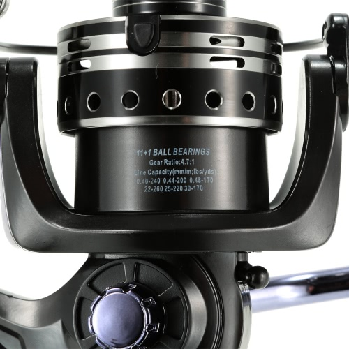 11+1BB Ball Bearings 4.7:1 Fishing Reel Left/Right Interchangeable Ultra Smooth Spinning Fishing ReelSports &amp; Outdoor<br>11+1BB Ball Bearings 4.7:1 Fishing Reel Left/Right Interchangeable Ultra Smooth Spinning Fishing Reel<br>