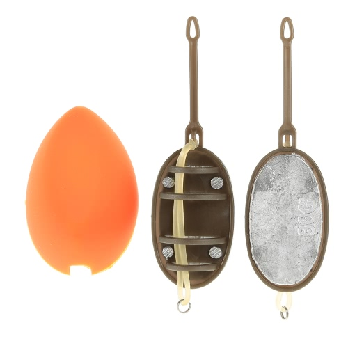 Hybrid Inline Method Fishing Feeder Set Bream Carp Tench Coarse Fishing Tackle with Bait Mould 20g/30g/40g/50gSports &amp; Outdoor<br>Hybrid Inline Method Fishing Feeder Set Bream Carp Tench Coarse Fishing Tackle with Bait Mould 20g/30g/40g/50g<br>