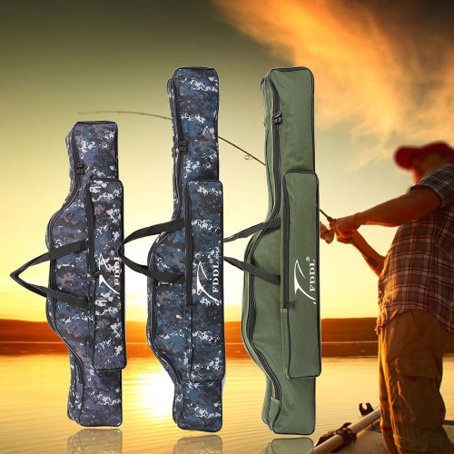 Fishing Tackle Bag 90/110cm Portable Fishing Rod Lures Storage Bag Multifunctional Double Layer Outdoor Fishing BagSports &amp; Outdoor<br>Fishing Tackle Bag 90/110cm Portable Fishing Rod Lures Storage Bag Multifunctional Double Layer Outdoor Fishing Bag<br>