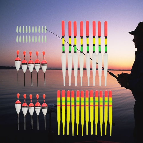 30pcs Fishing Floats w/ Rubbers Buoyancy Vertical Floater Assorted Shapes Colors Fishing Tackle Float FishingSports &amp; Outdoor<br>30pcs Fishing Floats w/ Rubbers Buoyancy Vertical Floater Assorted Shapes Colors Fishing Tackle Float Fishing<br>