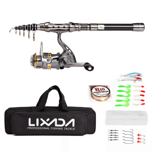 Lixada Telescopic Fishing Rod and Reel Combo Full KitSports &amp; Outdoor<br>Lixada Telescopic Fishing Rod and Reel Combo Full Kit<br>