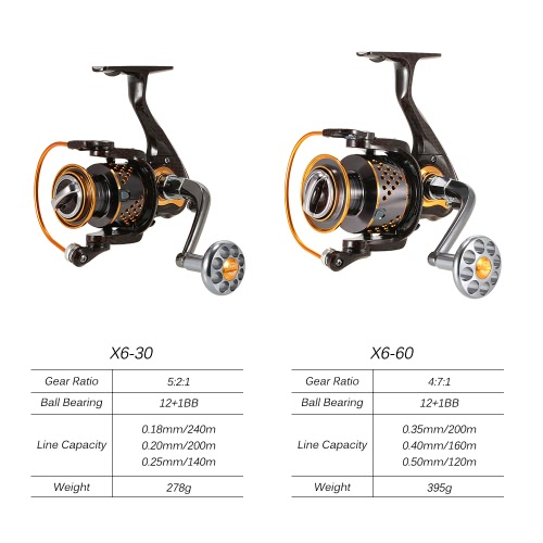 12+1BB X6-60 Ball Bearings Spinning Fishing ReelSports &amp; Outdoor<br>12+1BB X6-60 Ball Bearings Spinning Fishing Reel<br>
