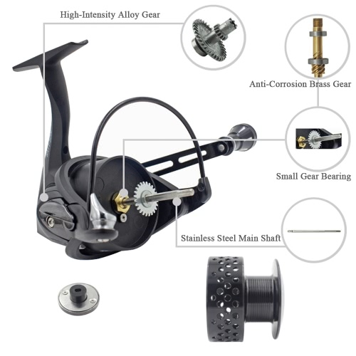 Spinning Carp Fishing Reels Wheel Left/Right Handle Metal Spool 11+1BB Stainless Steel Shaft Front DragSports &amp; Outdoor<br>Spinning Carp Fishing Reels Wheel Left/Right Handle Metal Spool 11+1BB Stainless Steel Shaft Front Drag<br>
