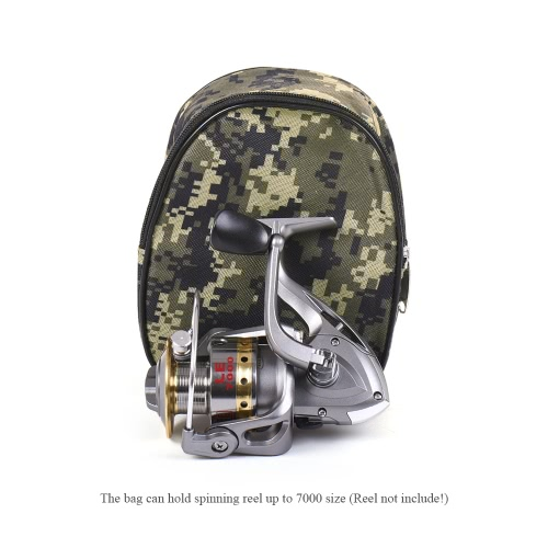 Lixada Small Reel Bag Medium Gear Bag Multi-function Fishing Spinning Reel Protective Bag Pouch Cover CamouflageSports &amp; Outdoor<br>Lixada Small Reel Bag Medium Gear Bag Multi-function Fishing Spinning Reel Protective Bag Pouch Cover Camouflage<br>