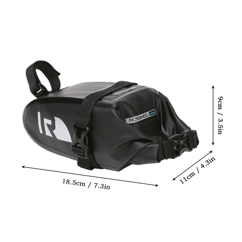 ROSWHEEL Outdoor Cycling Bike Bicycle Baddle Bag Water Resistant Rainproof MTB Bike Rear Bag Pack Tail Bag PouchSports &amp; Outdoor<br>ROSWHEEL Outdoor Cycling Bike Bicycle Baddle Bag Water Resistant Rainproof MTB Bike Rear Bag Pack Tail Bag Pouch<br>