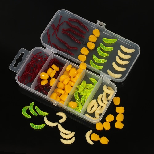 Lixada 160pcs/lot Fishing Lures Earthworm Corn Maggot Grub Worms Soft Bait Lures Set Kit with Tackle BoxSports &amp; Outdoor<br>Lixada 160pcs/lot Fishing Lures Earthworm Corn Maggot Grub Worms Soft Bait Lures Set Kit with Tackle Box<br>