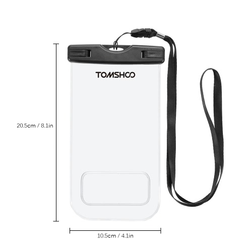 TOMSHOO Waterproof Phone Case Dry Bag Pouch Transparent Touch Screen Cellphone Case for 6.0 DevicesSports &amp; Outdoor<br>TOMSHOO Waterproof Phone Case Dry Bag Pouch Transparent Touch Screen Cellphone Case for 6.0 Devices<br>