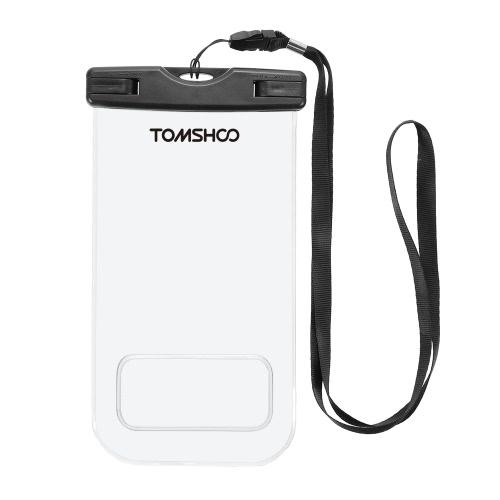 """TOMSHOO impermeable teléfono caso bolsa de bolsa seca transparente pantalla táctil de teléfono móvil para 6.0 """"dispositivos"""