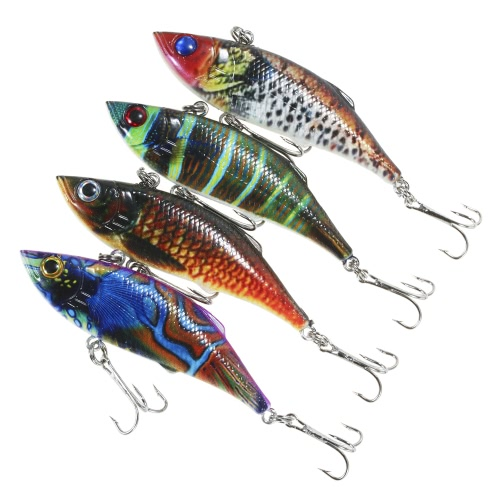 Lixada 4PCS Sinking VIB Fishing Lures 11.8g 80mm Artificial Hard Bait Set Wobbler Bait with #6 HooksSports &amp; Outdoor<br>Lixada 4PCS Sinking VIB Fishing Lures 11.8g 80mm Artificial Hard Bait Set Wobbler Bait with #6 Hooks<br>