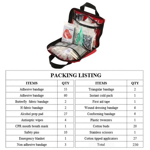 230PCS Safe Travel First Aid KitSports &amp; Outdoor<br>230PCS Safe Travel First Aid Kit<br>