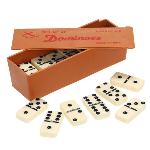Double Six Dominoes Set Entertainment Recreational Travel Game Toy Black Dots DominoesSports &amp; Outdoor<br>Double Six Dominoes Set Entertainment Recreational Travel Game Toy Black Dots Dominoes<br>