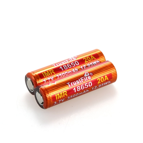 TrustFire 2PCS IMR 18650 Battery 3500mAh 3.7V 20A High-Rate Rechargeable Li-ion Battery for E-cigarette LED FlashlightSports &amp; Outdoor<br>TrustFire 2PCS IMR 18650 Battery 3500mAh 3.7V 20A High-Rate Rechargeable Li-ion Battery for E-cigarette LED Flashlight<br>