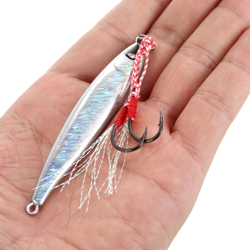 8.8cm / 80g Fishing Lure Artificial Baits 3D Eyes Double Hook Hard Baits Reflective Metal Body with RingSports &amp; Outdoor<br>8.8cm / 80g Fishing Lure Artificial Baits 3D Eyes Double Hook Hard Baits Reflective Metal Body with Ring<br>