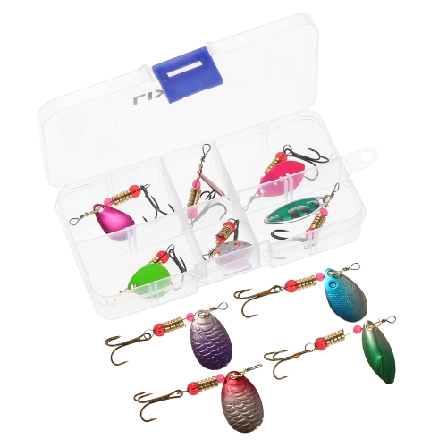 Lixada 10PCS Paillette Spoon Lures Salmon Bass Lures Sequin Treble Hook Spinner Artificial Bait Fishing Tackle AccessoriesSports &amp; Outdoor<br>Lixada 10PCS Paillette Spoon Lures Salmon Bass Lures Sequin Treble Hook Spinner Artificial Bait Fishing Tackle Accessories<br>
