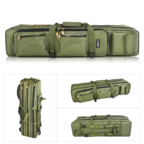 Outdoor 3 Layer Fishing Bag Backpack 80cm/100cm Fishing Rod Reel Carrier Bag Fishing Pole Tackle Bag Carry Case Travel BagSports &amp; Outdoor<br>Outdoor 3 Layer Fishing Bag Backpack 80cm/100cm Fishing Rod Reel Carrier Bag Fishing Pole Tackle Bag Carry Case Travel Bag<br>