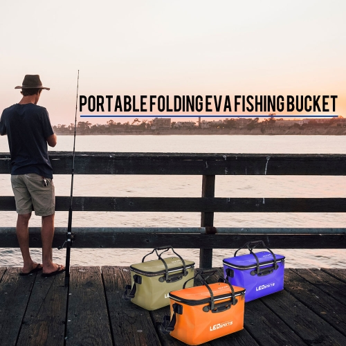 40cm/45cm Outdoor Folding EVA Bucket Fishing Bag Case Portable Camping Hiking Bucket with HandleSports &amp; Outdoor<br>40cm/45cm Outdoor Folding EVA Bucket Fishing Bag Case Portable Camping Hiking Bucket with Handle<br>