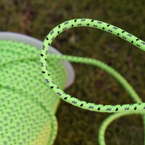50m Reflective Rope Paracord Cord Outdoor Gear Lanyard 1 Inner Strand Core for Camping Tent Awning