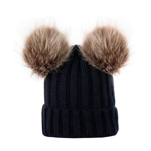 Зимние теплые женщины и малыши Трикотажные вязаные шлепанцы