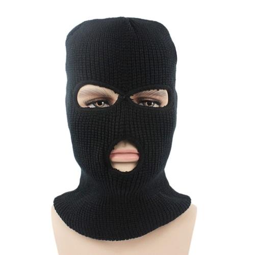 Теплая трикотажная маска для лица