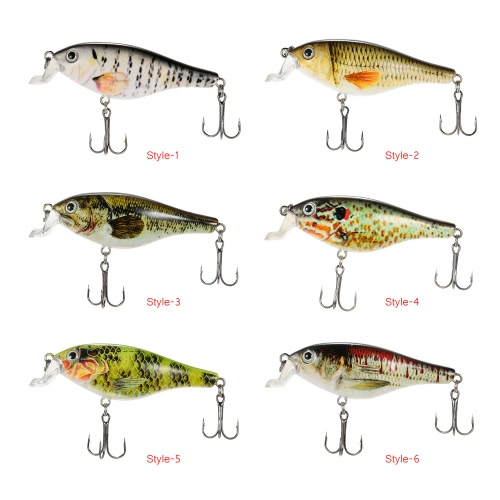 Lixada 8.3cm/11g Artificial Crankbait Fishing Lure Hard Bait with Treble Hooks   Fishing Bait Fishing TackleSports &amp; Outdoor<br>Lixada 8.3cm/11g Artificial Crankbait Fishing Lure Hard Bait with Treble Hooks   Fishing Bait Fishing Tackle<br>