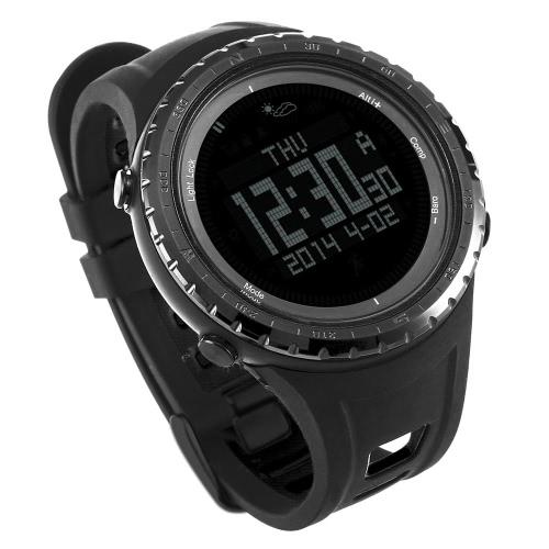 Sunroad 5ATM Digital Sports Smart Watch Pêche Montre Baromètre Altimètre Boussole Thermomètre podomètre