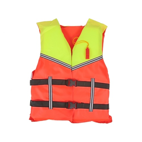 with Life Whistle Camping & Hiking Safety & Survival Boat Work Outdoor Drifting Adult Life-saving Vest Waterproof Adjustable Reflective Jacket Safety Vest