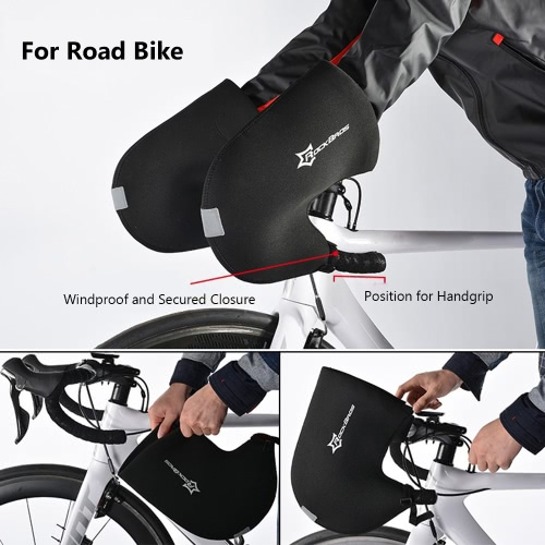 ?ROCKBROS Rainproof Neoprene Winter Unisex Cycling Handlebar Bar End Mittens Mitts Gloves Road Bicycle Bike Hands Protector WarmerSports &amp; Outdoor<br>?ROCKBROS Rainproof Neoprene Winter Unisex Cycling Handlebar Bar End Mittens Mitts Gloves Road Bicycle Bike Hands Protector Warmer<br>