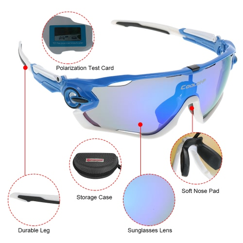 Polarized UV Protection Cycling Sunglasses with 4 Interchangeable LensesSports &amp; Outdoor<br>Polarized UV Protection Cycling Sunglasses with 4 Interchangeable Lenses<br>