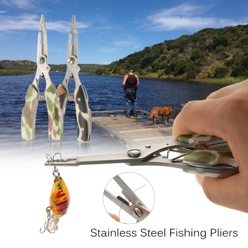 Docooler Stainless Steel Multifunctional Fishing Lure Pliers Fishing Hook Remover Serrated Tackle Braid Cutter with Carrying CaseSports &amp; Outdoor<br>Docooler Stainless Steel Multifunctional Fishing Lure Pliers Fishing Hook Remover Serrated Tackle Braid Cutter with Carrying Case<br>