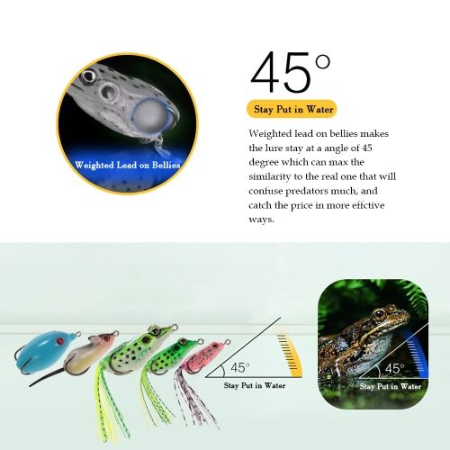 TOMSHOO 5pcs Assorted Lifelike Toad Mice Fishing Lures Artificial Fishing Kit Double Concealed Hooks Toad Mouse Kit In Clear CaseSports &amp; Outdoor<br>TOMSHOO 5pcs Assorted Lifelike Toad Mice Fishing Lures Artificial Fishing Kit Double Concealed Hooks Toad Mouse Kit In Clear Case<br>