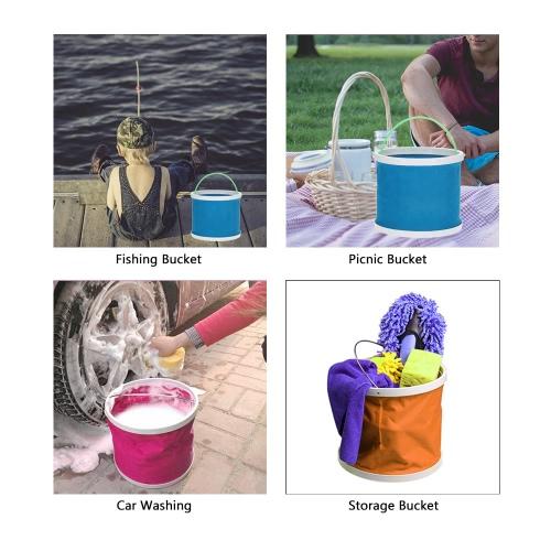 Outdoor Oxford Cloth Bucket Folding Bucket Portable Camping Hiking Fishing Bucket Fishing Tackle ToolsSports &amp; Outdoor<br>Outdoor Oxford Cloth Bucket Folding Bucket Portable Camping Hiking Fishing Bucket Fishing Tackle Tools<br>